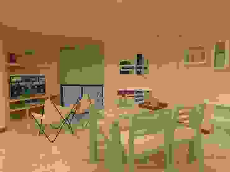Dpto. Nueva Córdoba – Propuestas de Equipamientos (Cocina/Living/Comedor) de ER Design. @eugeriveraERdesign Moderno