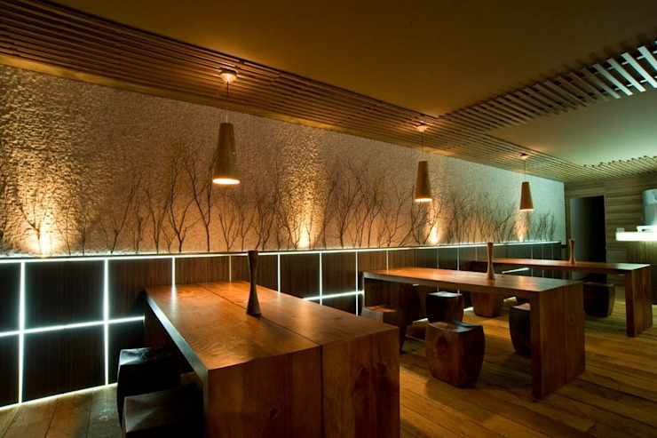 Projeto Salas de jantar modernas por alexandre chaguri arquitetura Moderno
