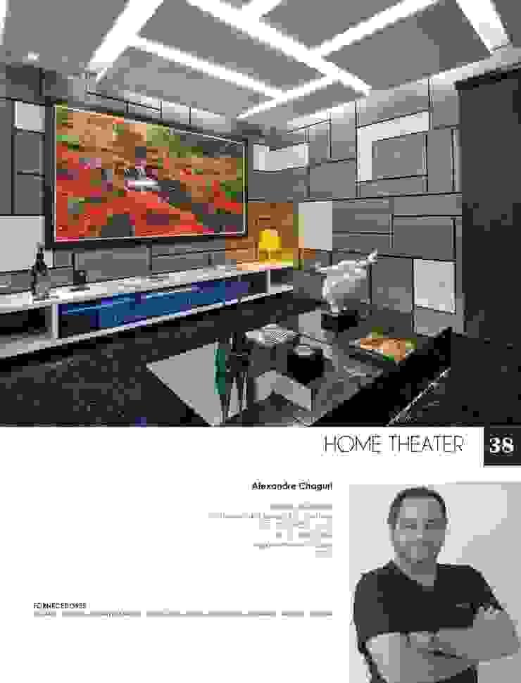 Projeto Salas multimídia modernas por alexandre chaguri arquitetura Moderno