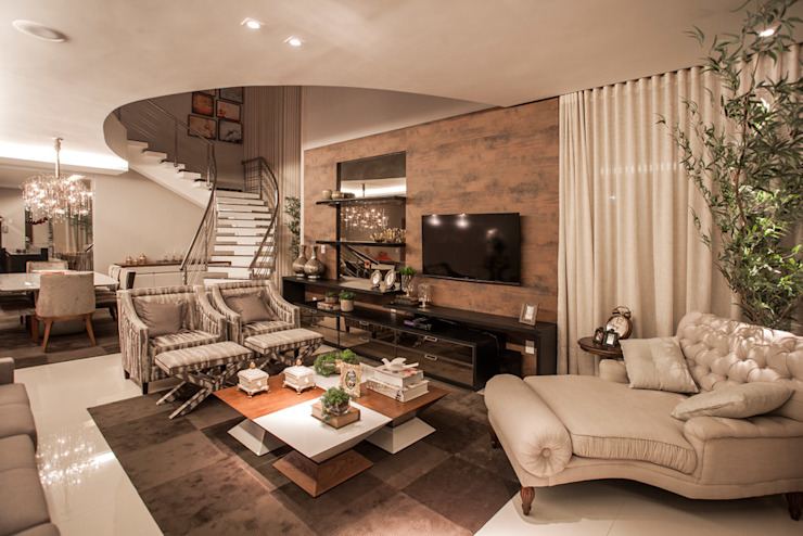 Projeto Modern living room by Heloisa Titan Arquitetura Modern