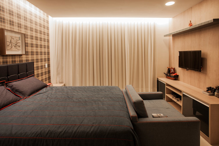 Projeto Modern style bedroom by Heloisa Titan Arquitetura Modern