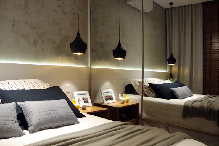 Suite Quartos modernos por Henrique Lima Arquitetura e Interiores Moderno