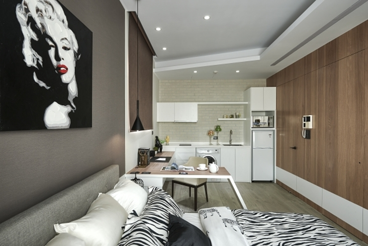 Dormitorios de estilo moderno de KD Panels Moderno Madera Acabado en madera