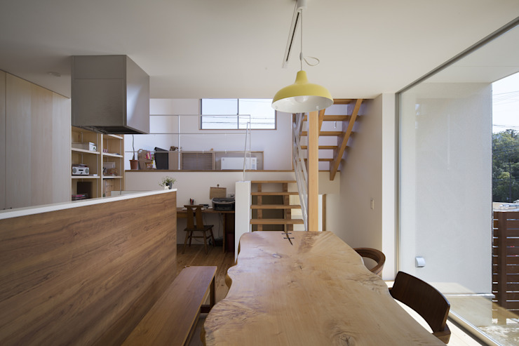 伊勢のスキップハウス HOUSE IN ISE オリジナルデザインの ダイニング の プラスアトリエ一級建築士事務所 オリジナル