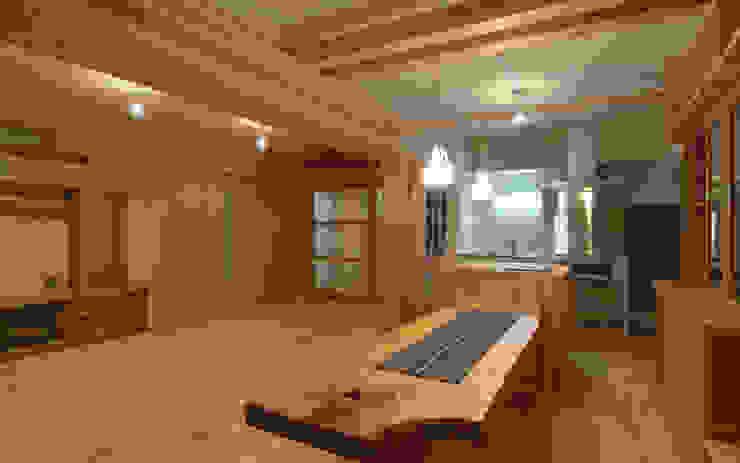 久留米の家 和風デザインの ダイニング の AMI ENVIRONMENT DESIGN/アミ環境デザイン 和風