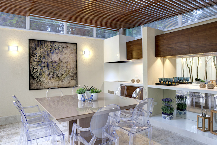 Dining room by Aonze Arquitetura, Modern Wood Wood effect