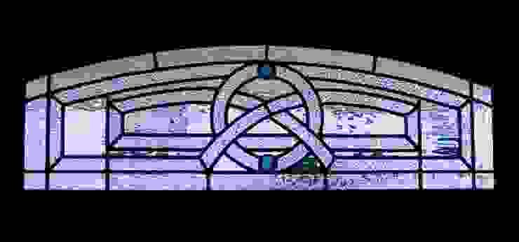 吹き抜けの窓: タラ工房が手掛けた折衷的なです。,オリジナル ガラス