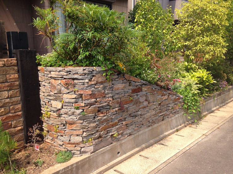 小端積みの庭 アジア風 庭 の 庭園空間ラボ teienkuukan Labo 和風