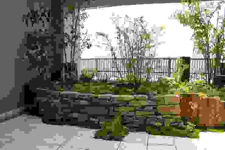 屋上庭園in戸畑 アジア風 庭 の 庭園空間ラボ teienkuukan Labo 和風