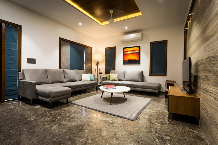 Modern Living Room by Vipul Patel Architects Modern