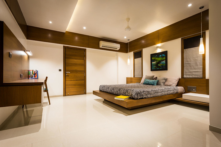 Chandresh bhai interiors Modern style bedroom by Vipul Patel Architects Modern