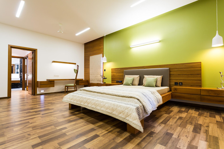 Jayesh bhai interiors Modern style bedroom by Vipul Patel Architects Modern