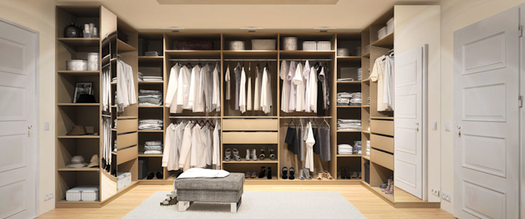 Dressing room by homify, Modern لکڑی Wood effect