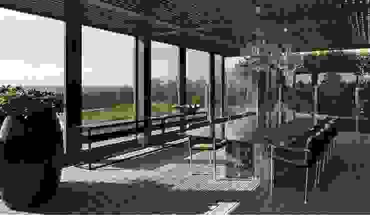 Casa Ofir Salas de jantar modernas por Ana Lobo Moderno