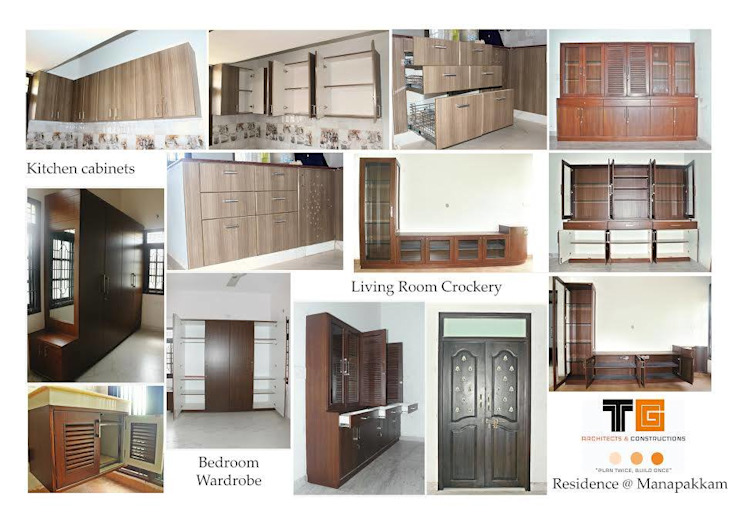 TG ARCHITECTS Livings de estilo moderno
