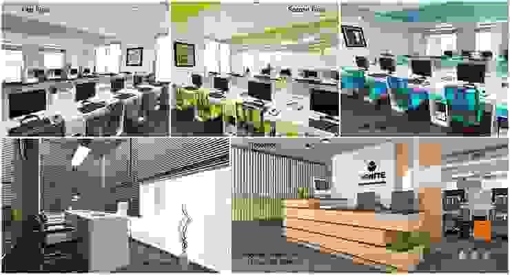 TG ARCHITECTS Oficinas y bibliotecas de estilo moderno