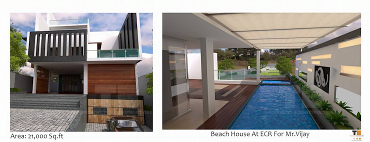 TG ARCHITECTS Casas estilo moderno: ideas, arquitectura e imágenes