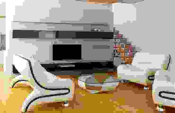 Projetos Residenciais Salas de estar modernas por Karen Falcochio Arquiteta e Urbanista Moderno