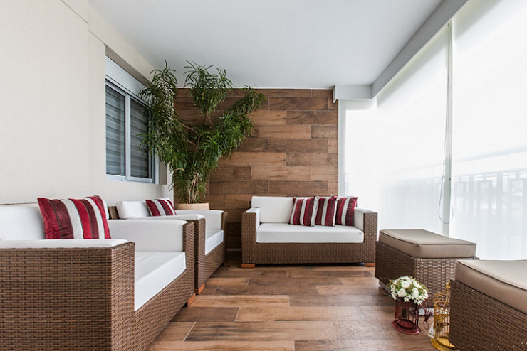 Balcon, Veranda & Terrasse modernes par Studio LK Arquitetura e Interiores Moderne