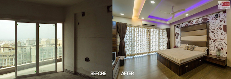 Before & After: modern  by Dessign7 Interiors Pvt Ltd,Modern