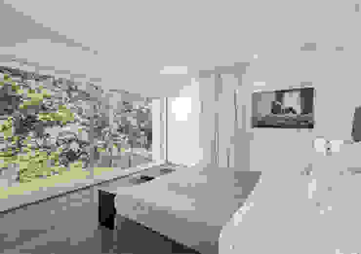 Villa en bordure de forêt Chambre moderne par dl-c, designlab-construction sa Moderne