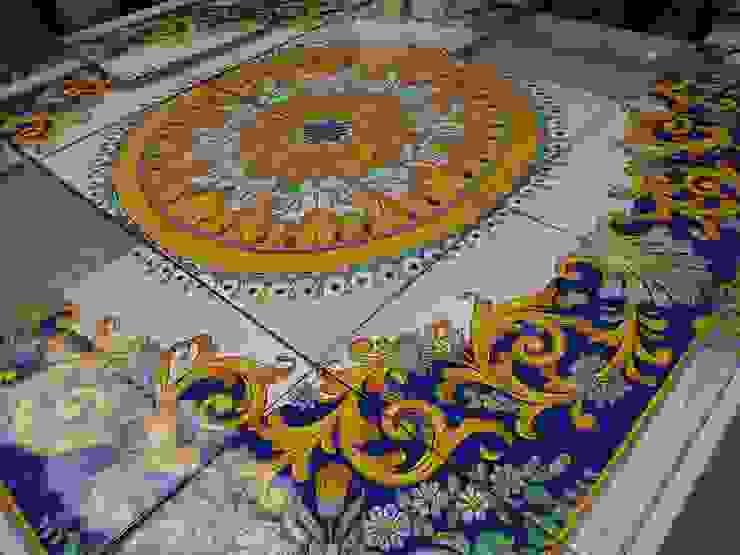 Piastrelle Barocco napoletano Pareti & Pavimenti in stile mediterraneo di CE.AR CERAMICHE Mediterraneo