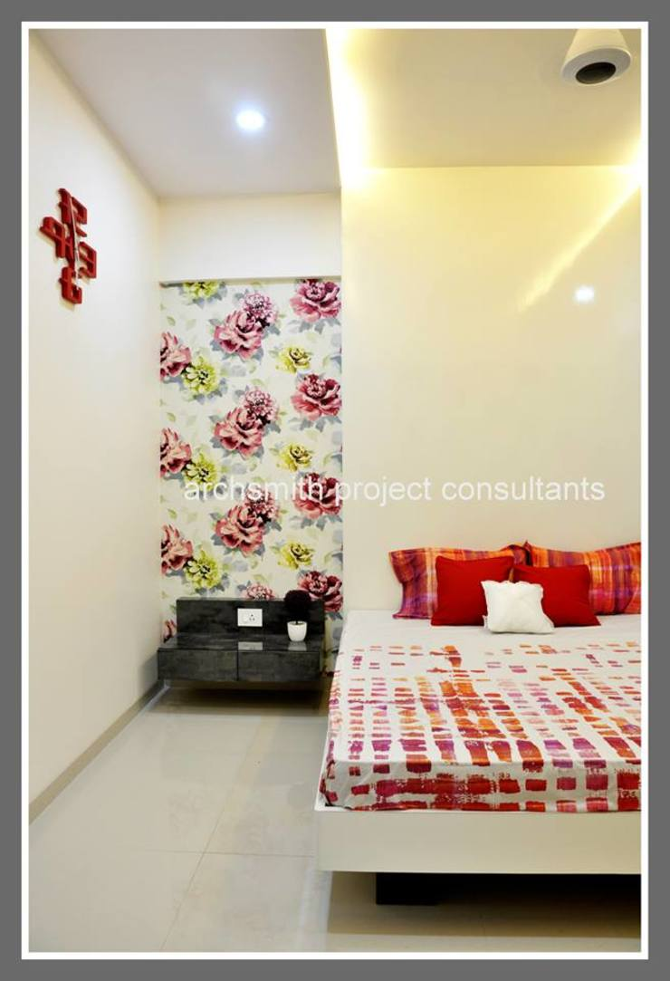 Amanora Park Town. Modern style bedroom by Archsmith project consultant Modern