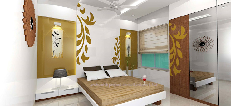 Bedroom Designs Modern style bedroom by Archsmith project consultant Modern