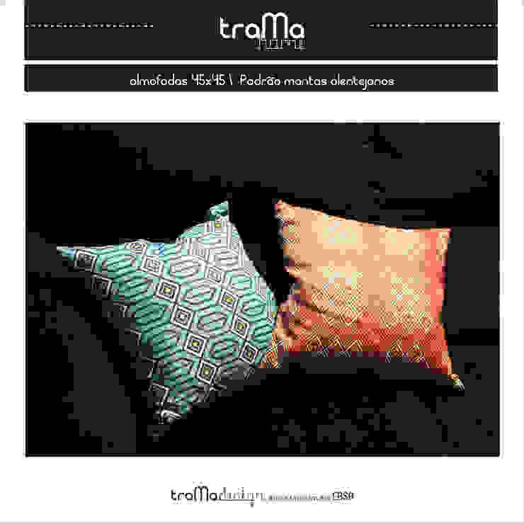 almofadas padrão mantas alentejanas por tramadesign Mediterrânico Linho Rosa