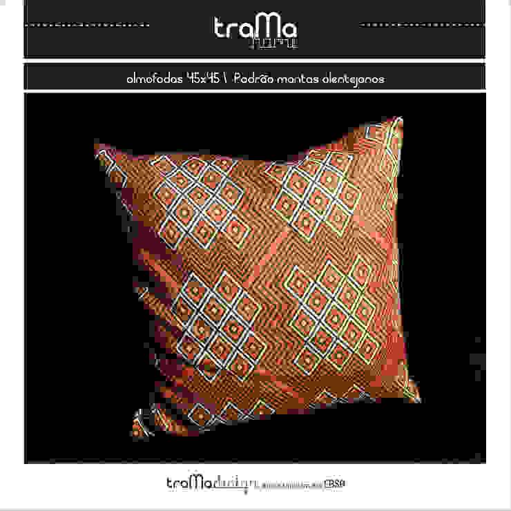 almofada- padrão mantas alentejanas por tramadesign Mediterrânico Linho Rosa