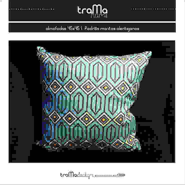 almofadas- padrão mantas alentejanas por tramadesign Mediterrânico Linho Rosa