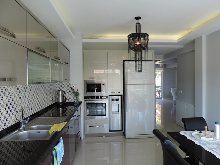 R. Kılınç Evi Modern Mutfak idiliçmimarlık Modern