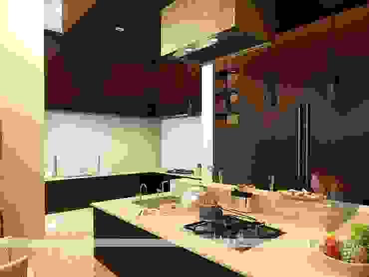 Interior project Modern kitchen by 3D Power Visualization Pvt. Ltd. Modern