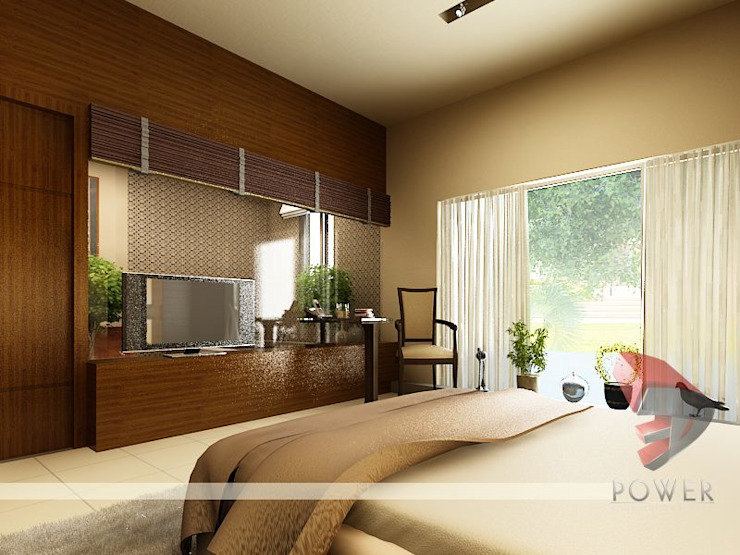 Interior project Modern style bedroom by 3D Power Visualization Pvt. Ltd. Modern