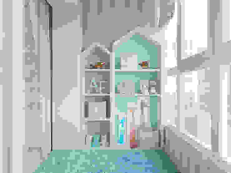 Вид на балкон смежный с детской: Детские комнаты в . Автор – Студия авторского дизайна ASHE Home, Классический