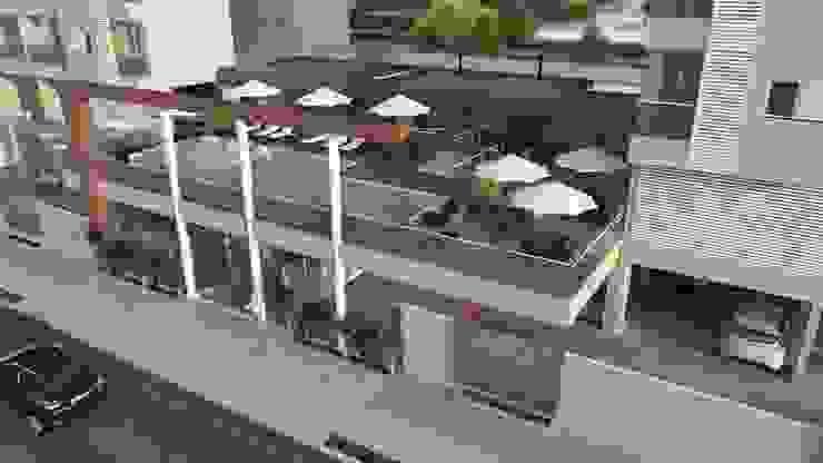 Residencial Solariun Varandas, alpendres e terraços modernos por Cavalheiro e Lopes Arquitetos Associados Moderno