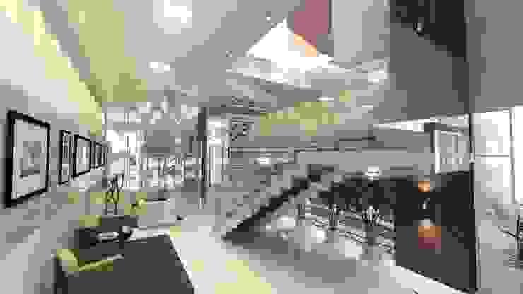 Residencial Solariun Corredores, halls e escadas modernos por Cavalheiro e Lopes Arquitetos Associados Moderno