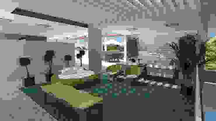 Varandas, marquises e terraços modernos por Cavalheiro e Lopes Arquitetos Associados Moderno