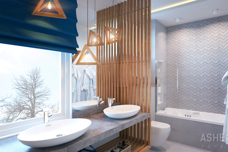 Eclectic style bathrooms by Студия авторского дизайна ASHE Home Eclectic