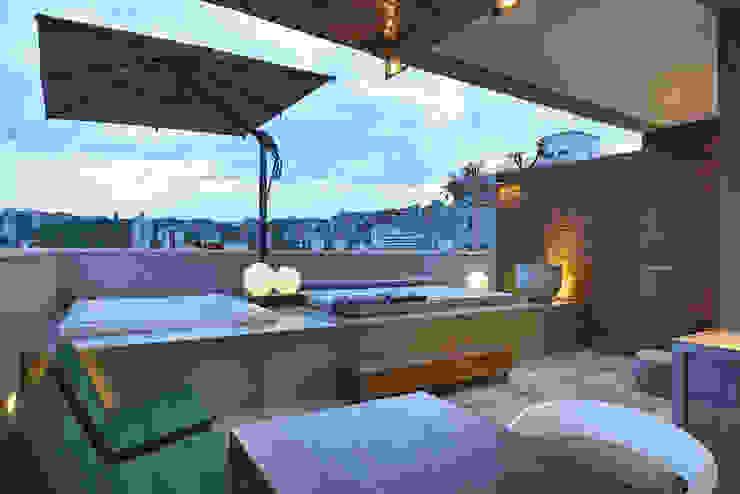 Apartamento | Cobertura Varandas, alpendres e terraços modernos por Piacesi Arquitetos Moderno