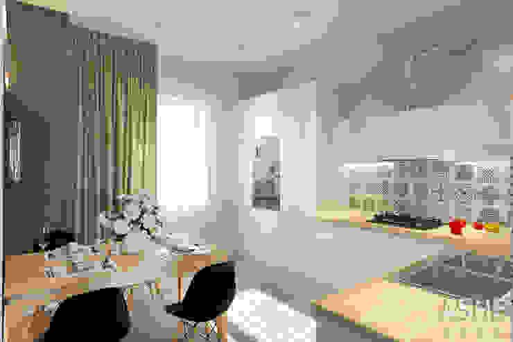 Интерьер таунхауса под Уфой Кухни в эклектичном стиле от Студия авторского дизайна ASHE Home Эклектичный