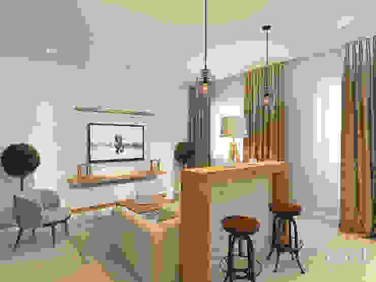 Salones de estilo  de Студия авторского дизайна ASHE Home,