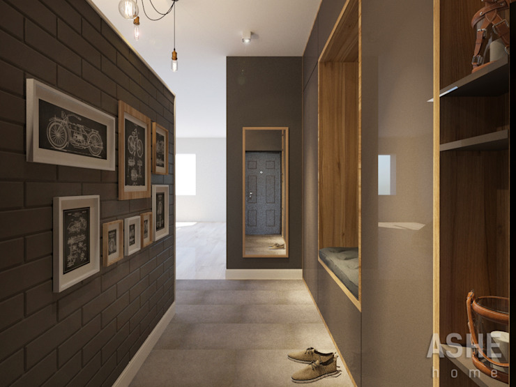Eclectic style corridor, hallway & stairs by Студия авторского дизайна ASHE Home Eclectic