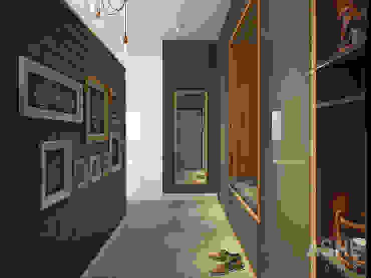 Интерьер таунхауса под Уфой Коридор, прихожая и лестница в эклектичном стиле от Студия авторского дизайна ASHE Home Эклектичный