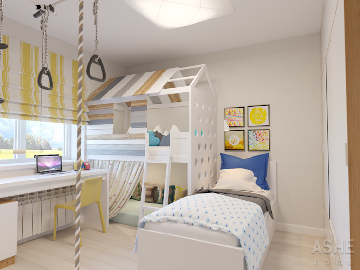 Интерьер таунхауса под Уфой: Детские комнаты в . Автор – Студия авторского дизайна ASHE Home,