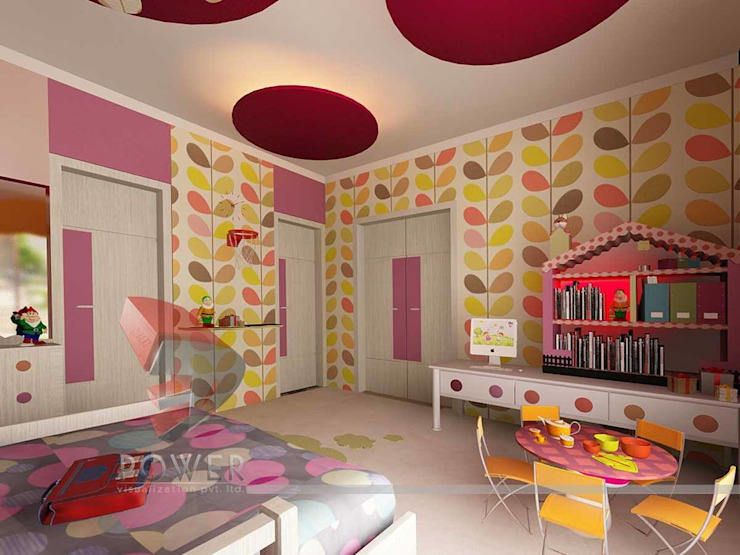 3D Power Visualization Pvt. Ltd. Dormitorios infantiles de estilo moderno