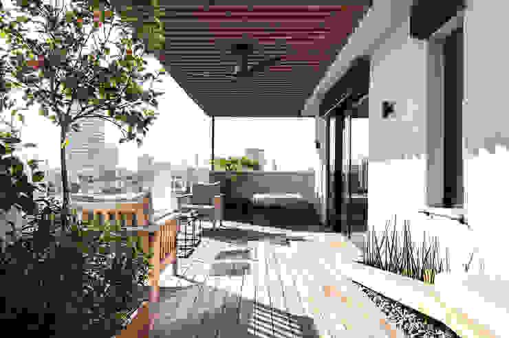 Terrazas de estilo  de toledano + architects, Minimalista Madera Acabado en madera