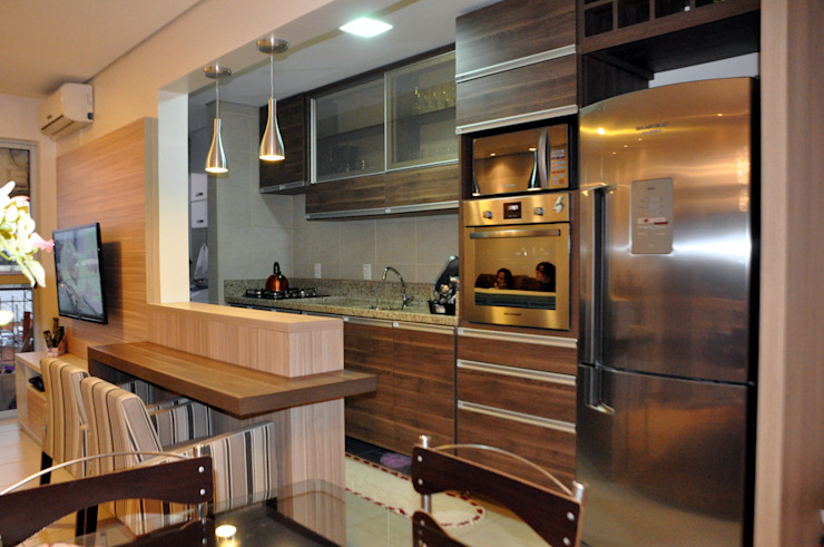 Cocina de estilo  por Áurea Arquitetura e Design,