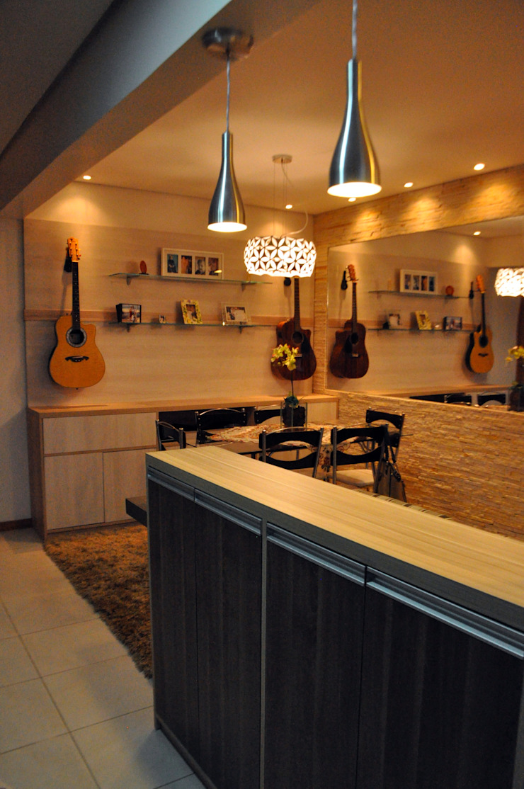 Apartamento Casal T&R por Áurea Arquitetura e Design Moderno