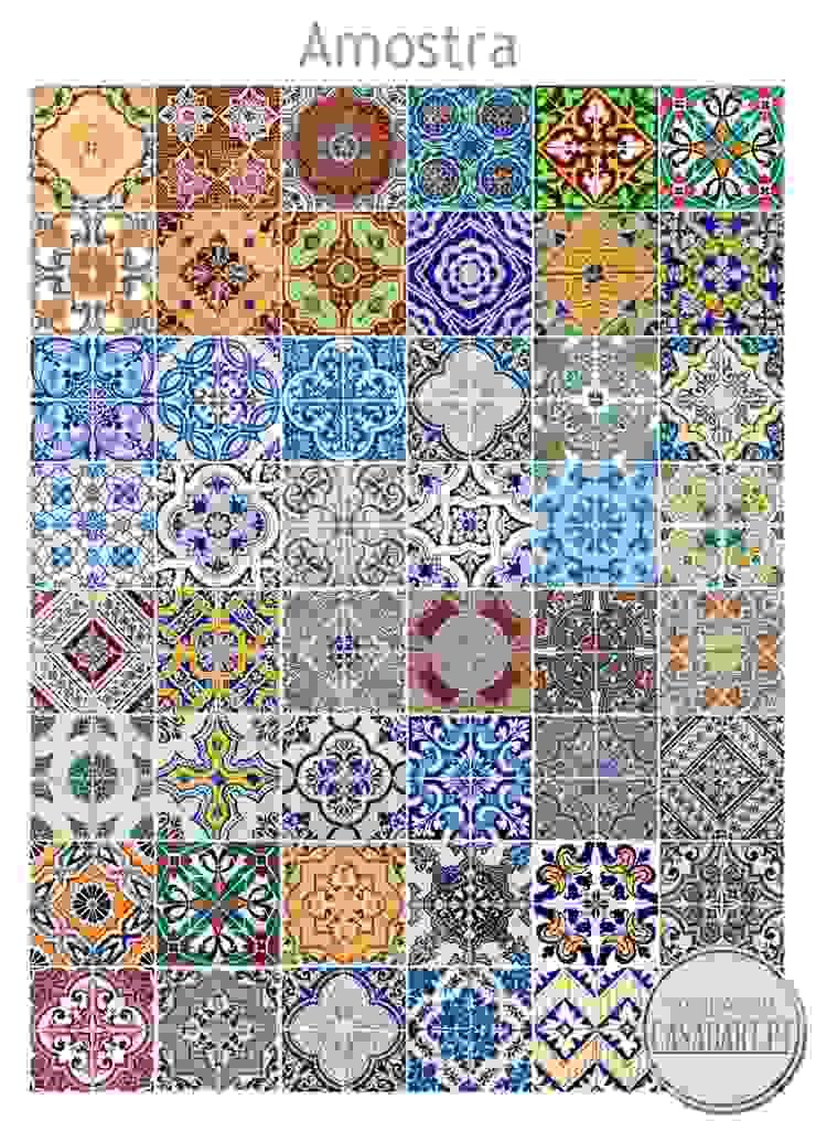 Azulejos Tradicionais Portugueses autocolantes (Pack de 48) por CASADART.PT Clássico